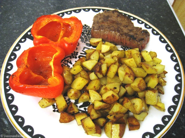 A hearty lunch/dinner with steak